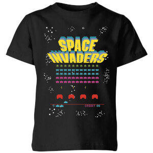 T-Shirt Enfant Game Screen Space Invaders - Noir