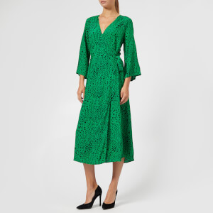 Gestuz Women's Loui Dress - Green Leopard
