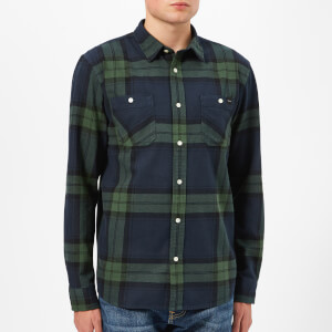 Edwin Men's Mid Twill Flannel Labour Shirt - Sycamore