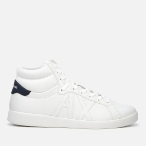 Armani Exchange Men's Hi-Top Trainers - White