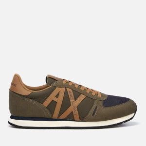 Armani Exchange Men's Nylon Running Style Trainers - Brown