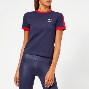Puma Women's Classic T7 Short Sleeve T-Shirt - Peacoat