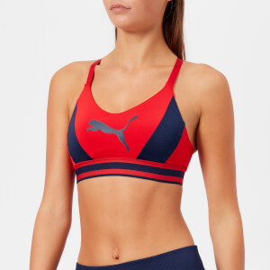 Puma Women's Logo Sports Bra - Ribbon Red-Peacoat