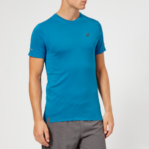 Asics Men's Seamless Short Sleeve Top - Race Blue Heather
