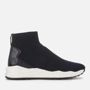 Ash Women's Spot Knitted Hi-Top Trainers - Midnight