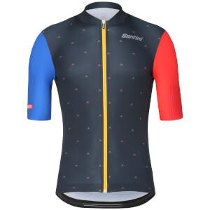Santini La Vuelta 2018 Andorra Jersey - Blue/Red
