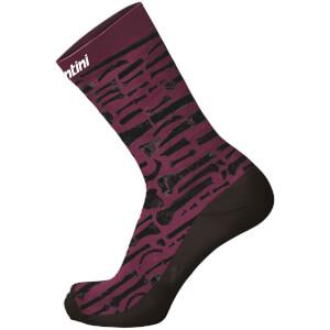 Santini La Vuelta 2018 La Huesera Printed Socks - Purple