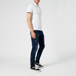 Diesel Men's Randy Broken Polo Shirt - White: Image 3