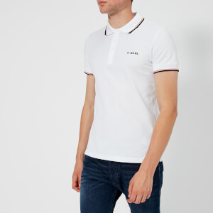 Diesel Men's Randy Broken Polo Shirt - White