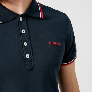 Diesel Men's Randy Broken Polo Shirt - Navy: Image 4