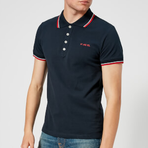 Diesel Men's Randy Broken Polo Shirt - Navy