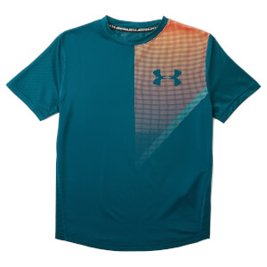 Under Armour Boys' Short Sleeve Raid T-Shirt - Techno Teal