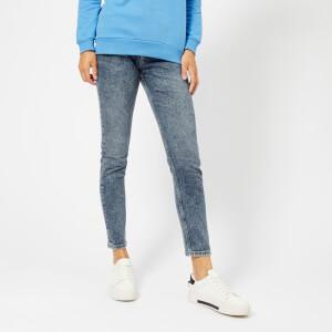 Calvin Klein Jeans Women's High Rise Slim West Jeans - Aptos Blue