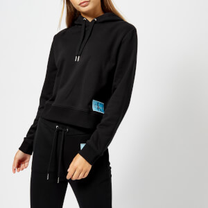 Calvin Klein Jeans Women's Harrison 2 Monogram Logo Badge Hoody - CK Black
