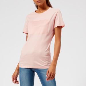 Calvin Klein Jeans Women's Institutional Satin Box Logo T-Shirt - Chintz Rose