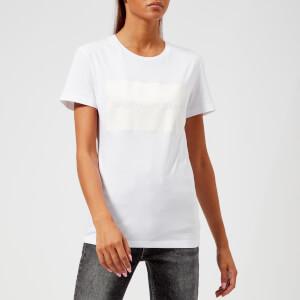 Calvin Klein Jeans Women's Institutional Satin Box Logo T-Shirt - Bright White