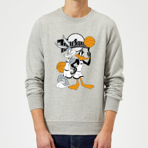 Sweat Homme Bugs et Daffy Time Squad Space Jam - Gris