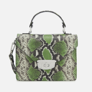 Ganni Women's Gallery Top Handle Bag - Classic Green