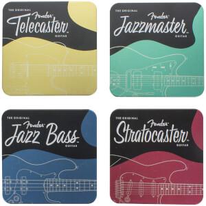 Fender Metall-Untersetzer-Set