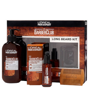 L'Oreal Men Expert Long Hair Barberclub Collection Gift Set for Him (Worth £20.98)