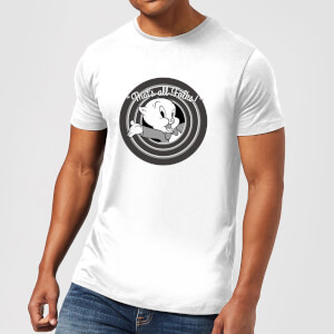 Looney Tunes That's All Folks Schweinchen Dick Herren T-Shirt - Weiß