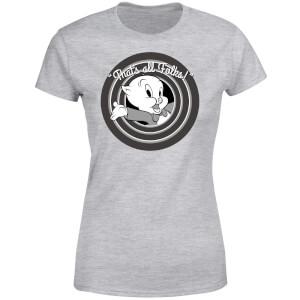 Looney Tunes That's All Folks Schweinchen Dick Damen T-Shirt - Grau