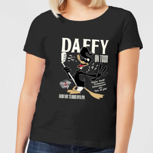 Looney Tunes Daffy Concert Women's T-Shirt - Black