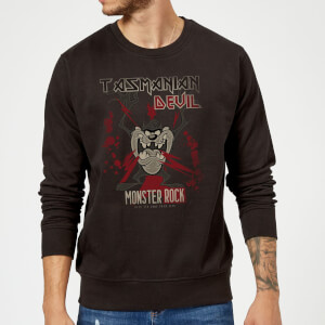 Sudadera Looney Tunes Demonio de Tasmania Monster Rock - Hombre - Negro