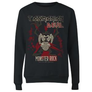 Sweat Femme Taz Diable de Tasmanie Monster Rock Looney Tunes - Noir