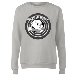 Looney Tunes That's All Folks Porky Pig Women's Sweatshirt - Grey