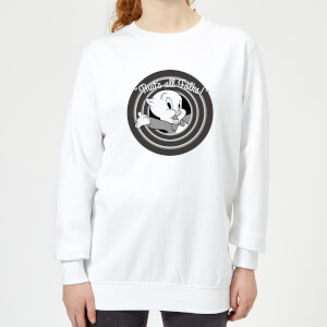 Sweat Femme That's All Folks ! Porky Pig Looney Tunes - Blanc