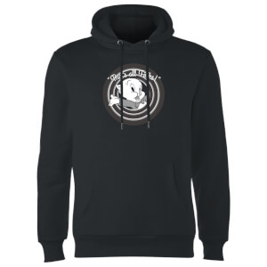 Looney Tunes That's All Folks Porky Pig Hoodie - Black