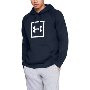 Under Armour Rival Fleece Logo Hoody - Navy Blue