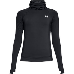 Under Armour Women's ColdGear Reactor Running Top - Reflective Black