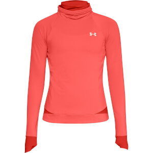 Under Armour Women's ColdGear Reactor Running Top - Reflective Orange