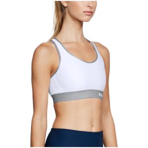 Under Armour Women's Mid Keyhole Sports Bra - White