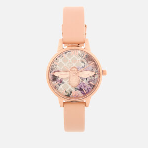 Olivia Burton Women's Glasshouse Watch - Nude Peach/Rose Gold