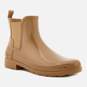 Hunter Women's Original Refined Gloss Chelsea Boots - Tawny: Image 2