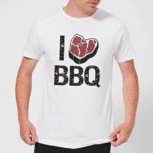 I Love BBQ Men's T-Shirt - White