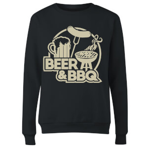 Beer & BBQ Women's Sweatshirt - Black
