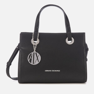 Armani Exchange Women's Small Shopper With Cross Body Bag - Black