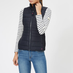 Joules Women's Fallow Padded Gilet with Funnel Neck - Marine Navy