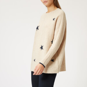 Joules Women's Kellie Drop Shoulder Intarsia Jumper - Navy Star