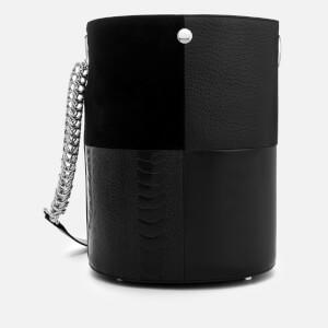 Alexander Wang Women's Genesis Patchwork Bucket Bag - Black
