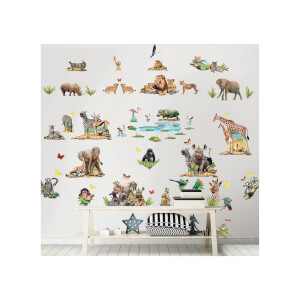 Walltastic Jungle Safari Room Decor Kit