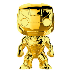 Marvel MS 10 Iron Man Gold Chrome Pop! Vinyl Figur