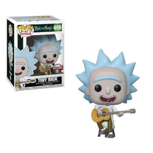 Rick & Morty Tiny Rick with Guitar EXC Pop! Vinyl Figure