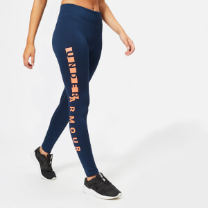 Under Armour Women's Cold Gear Leggings - Academy/After Burn/Silver