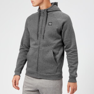 Under Armour Men's Rival Fleece Full Zip Hoodie - Charcoal Light Heather/Black