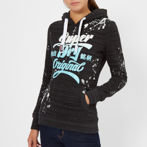 Superdry Women's Original Brand Splat Entry Hoody - Grit Black
